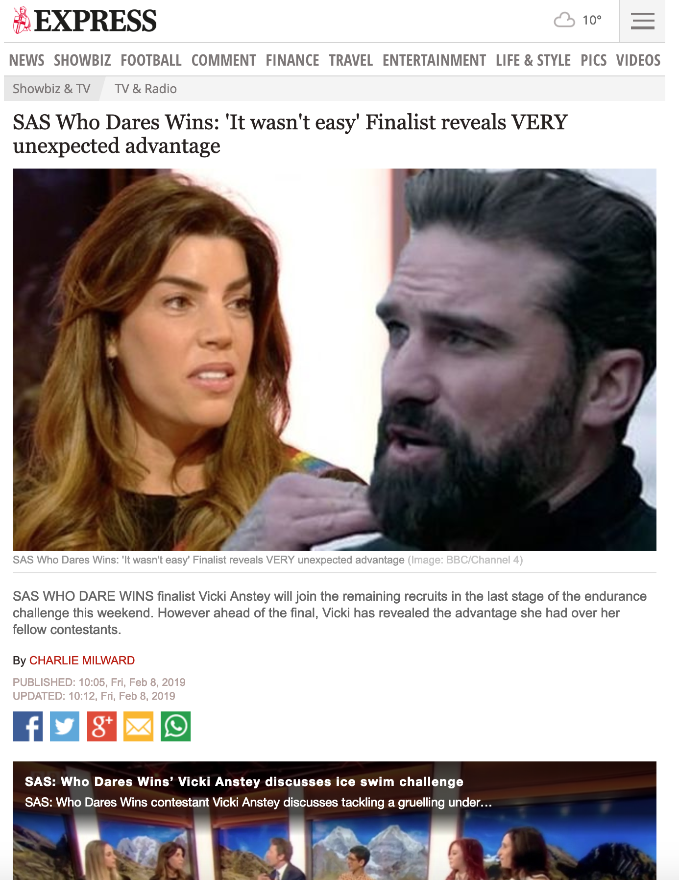 SAS Who Dares Wins: 'It wasn't easy' Finalist reveals VERY unexpected advantage